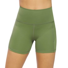 Queenieke Wide Waistband Skinny Sports Shorts