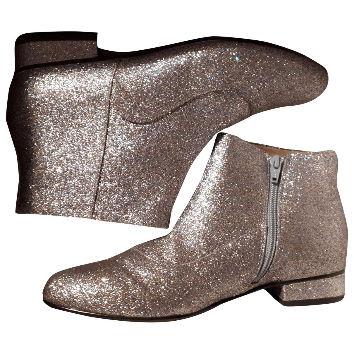 Mellow Yellow - Boots   pour femme en a paillettes - gris