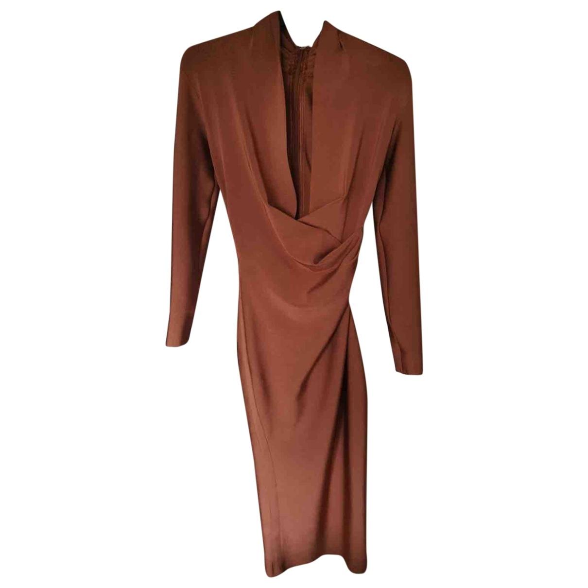 House Of Cb \N Kleid in  Braun Polyester