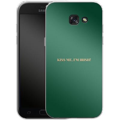 Samsung Galaxy A5 (2017) Silikon Handyhuelle - Kiss Me Im Irish von caseable Designs