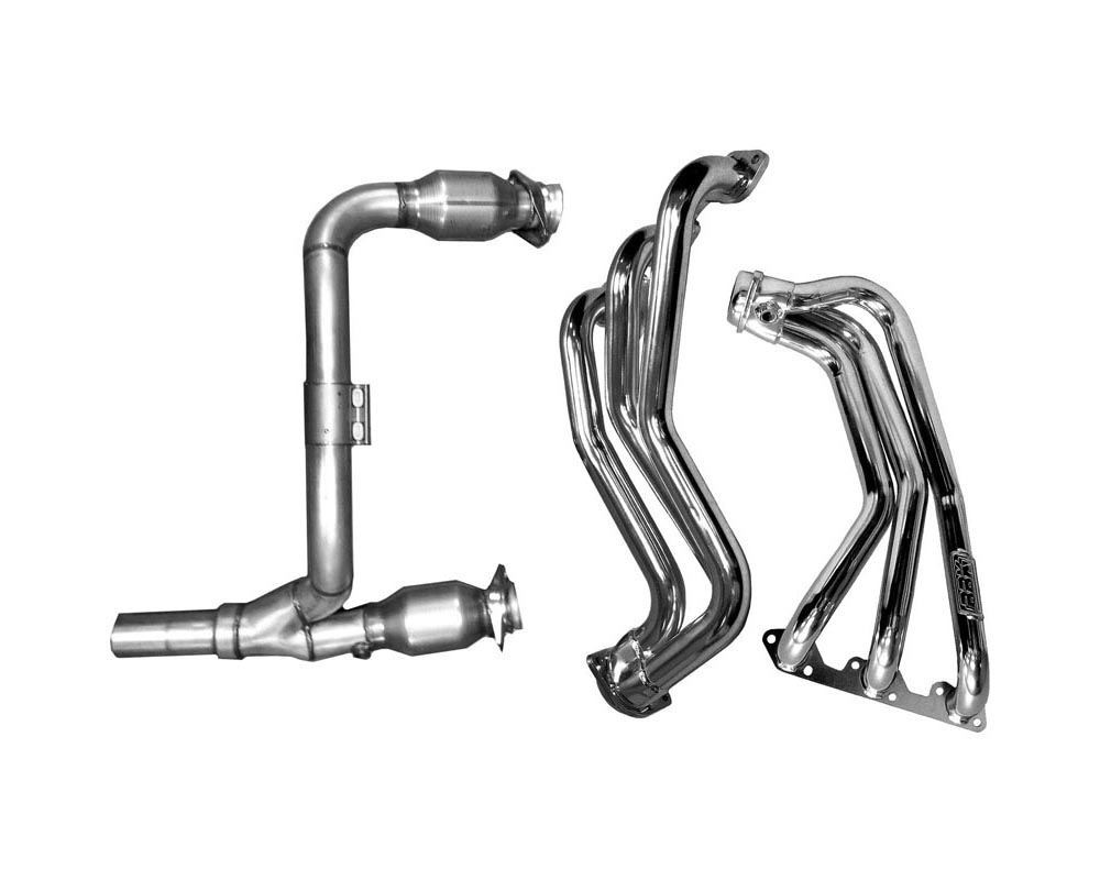 BBK 4050 Performance Parts 2007-2011 JEEP WRANGLER 3.8L 1-5/8 LONG TUBE HEADERS W/CATS Y PIPE (CHROME) Jeep Wrangler 2007-2011