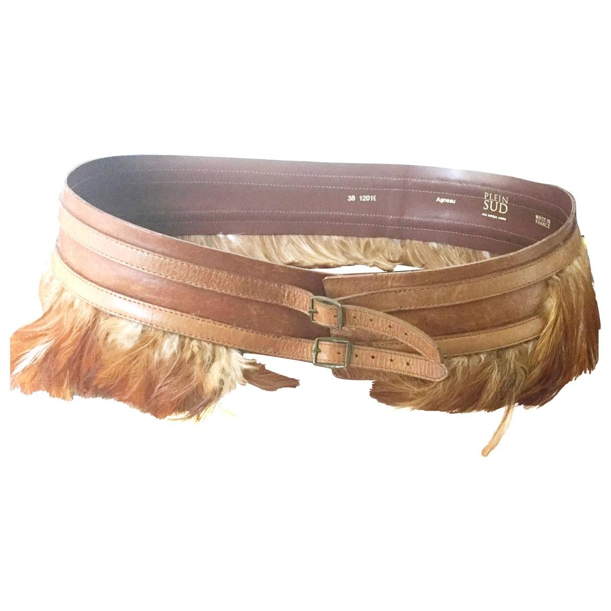 Plein Sud \N Brown Leather belt for Women 85 cm