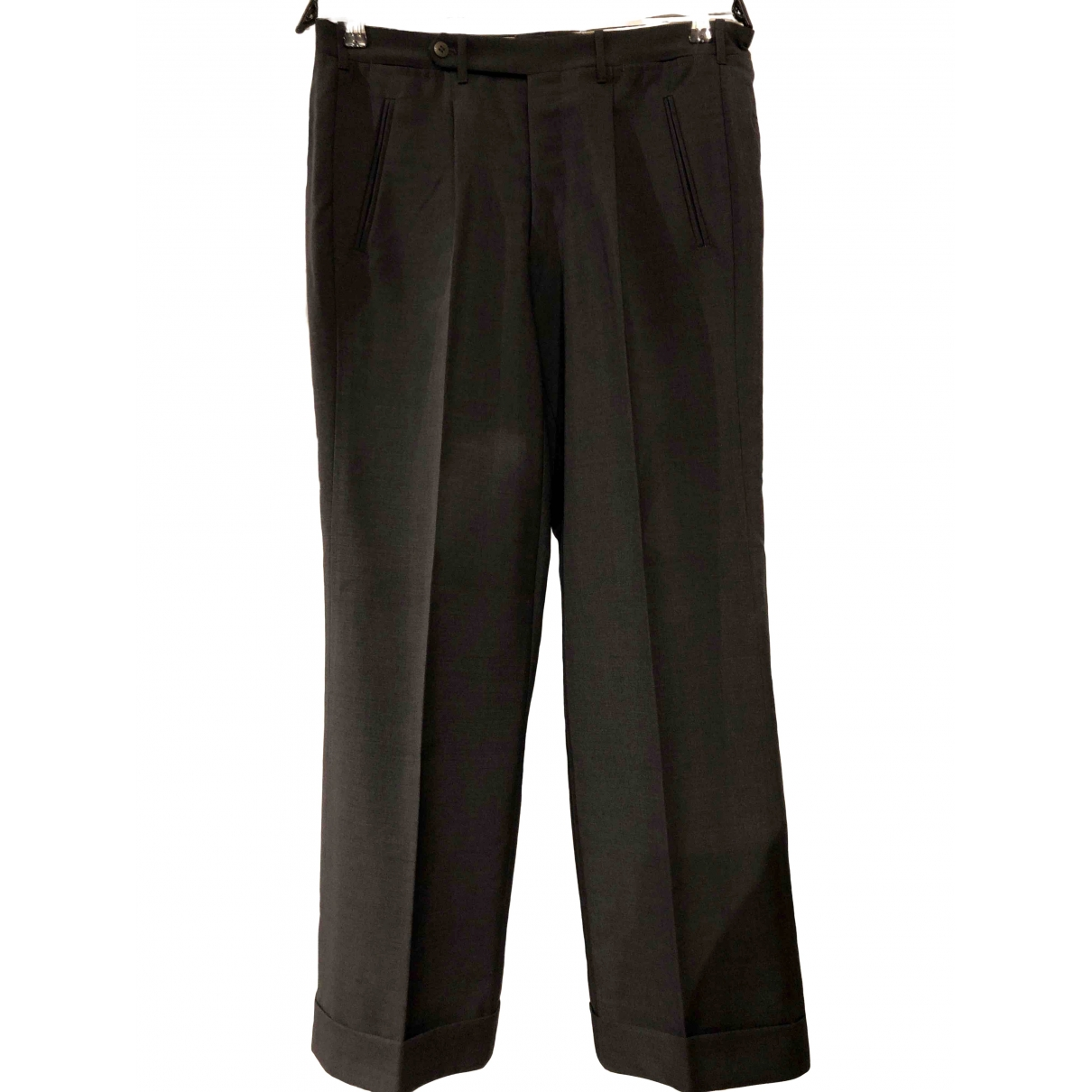 Non Signé / Unsigned \N Grey Wool Trousers for Men 48 IT