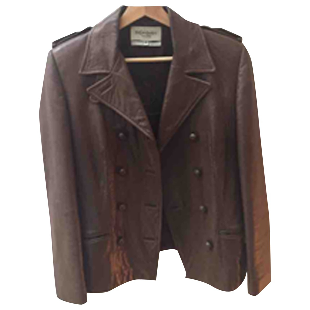 Yves Saint Laurent N Brown Leather jacket for Women 38 FR