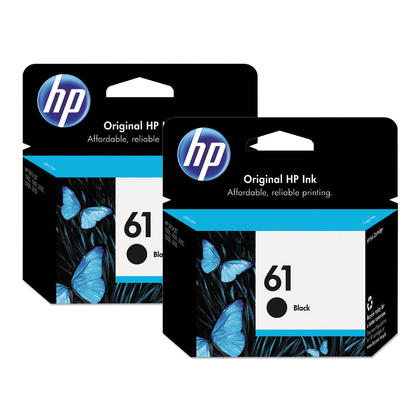 HP 61 CH561WN Original Black Ink Cartridge Dual Pack- 2/Pack