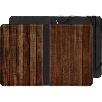 Amazon Kindle Paperwhite 4 (2018) eBook Reader Huelle - Dark Wood Floor von caseable Designs