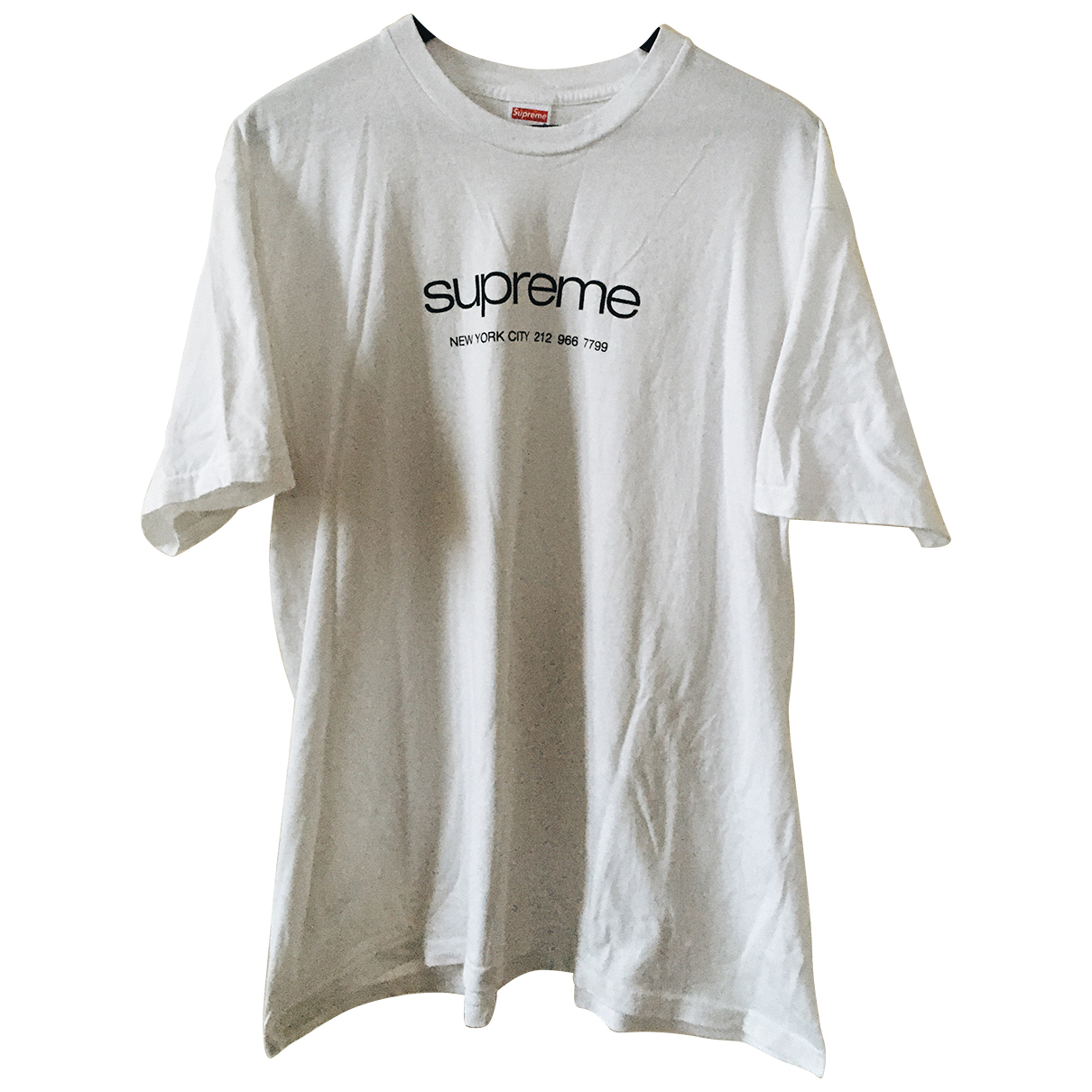 Supreme - Tee shirts   pour homme en coton - blanc