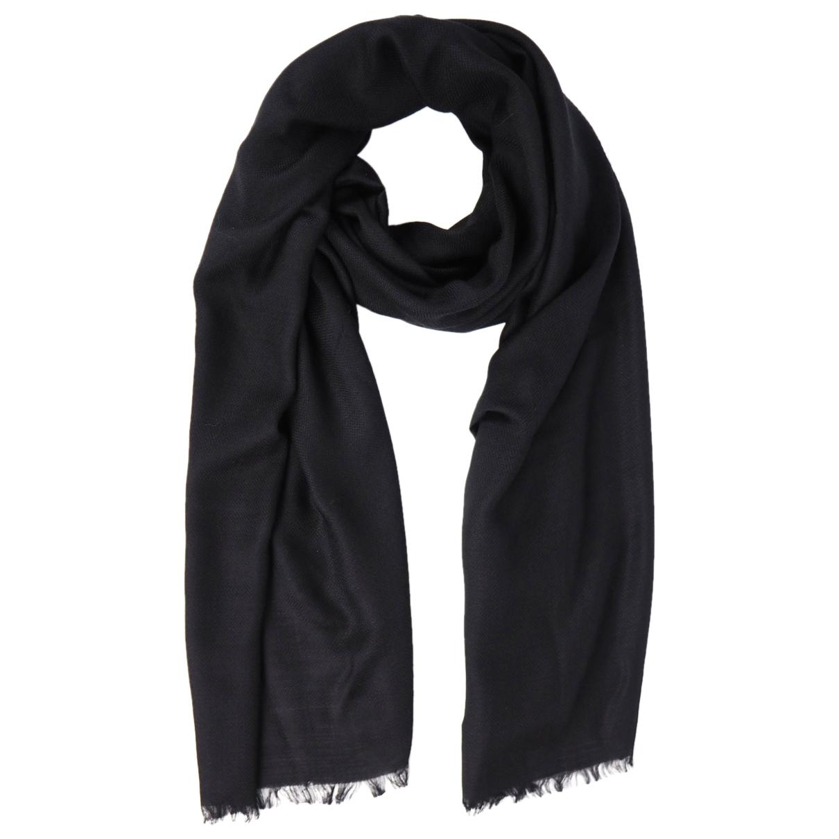 Giorgio Armani - Foulard   pour femme en cachemire - noir