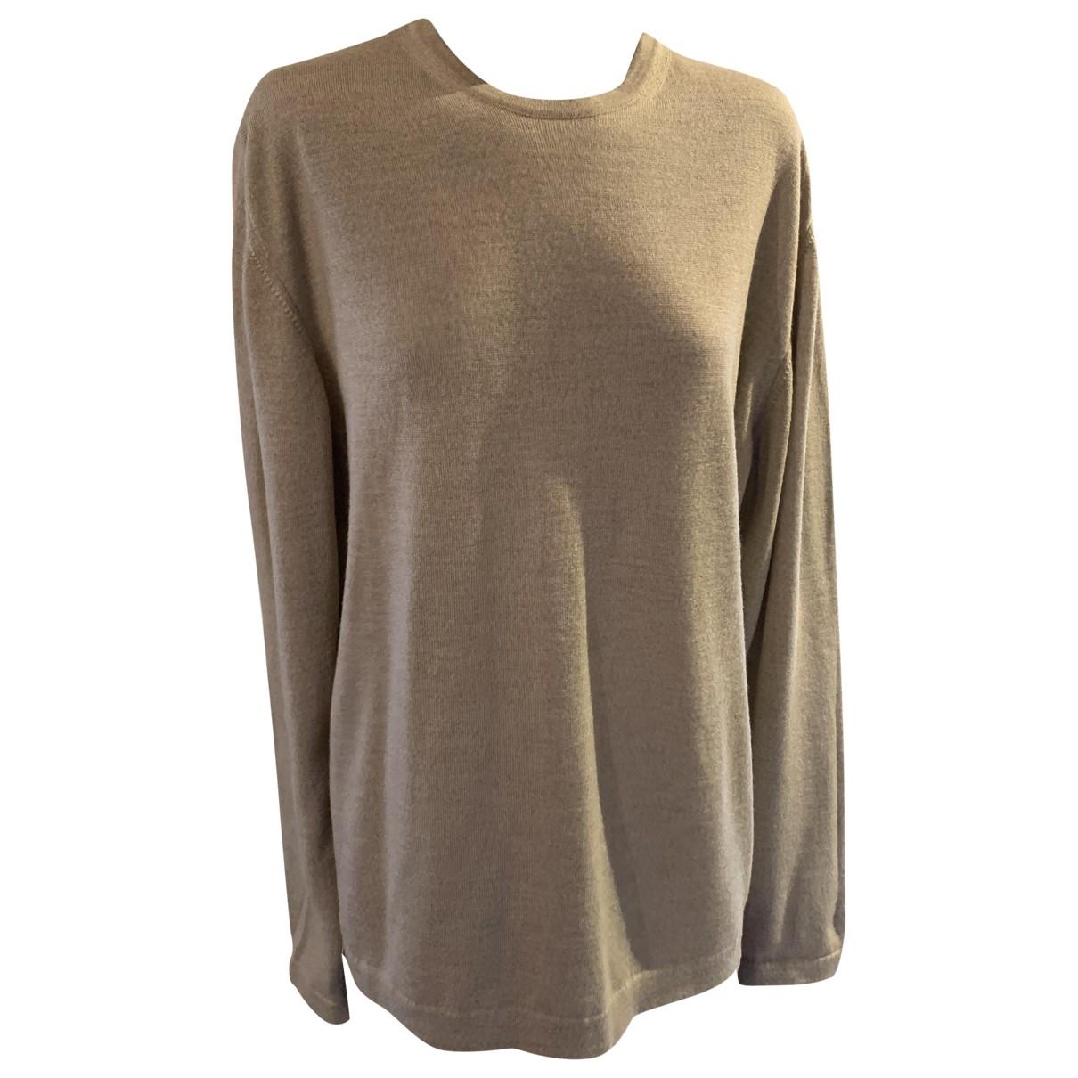Burberry \N Pullover.Westen.Sweatshirts  in  Beige Wolle