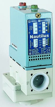 Telemecanique Sensors Pressure Sensor for Various Media , 35bar Max Pressure Reading Relay
