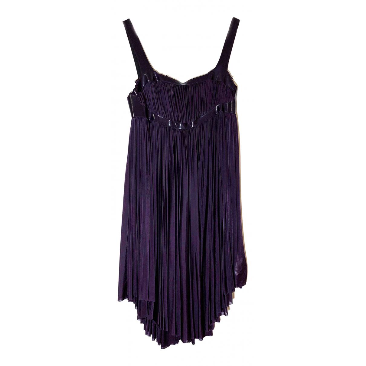 Mcq \N Kleid in  Lila Seide