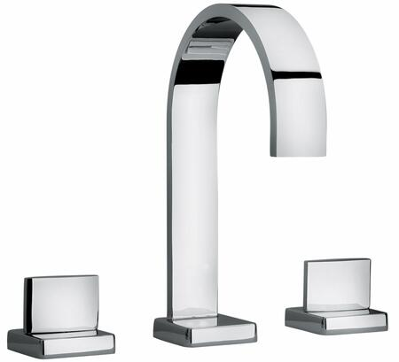 15102 Chrome Two Lever Handle Roman Tub Faucet With Classic Ribbon