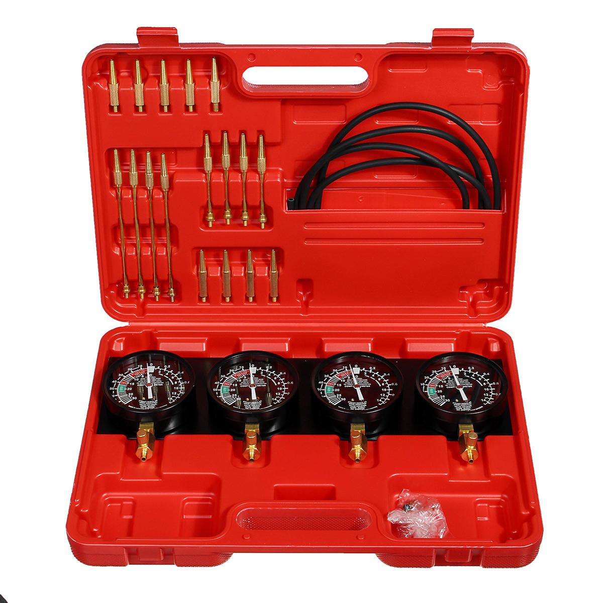 Carb Carburetor Vacuum Synchronizer Gauges Balancer Tool Kit For 2/4 Cylinder Motorcycle