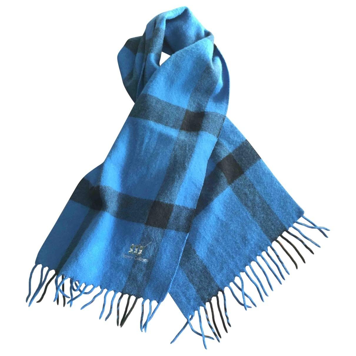 Henry Cotton \N Tuecher, Schal in  Blau Wolle