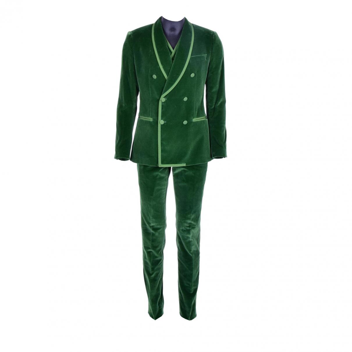 Dolce & Gabbana \N Green Velvet Suits for Men 52 IT