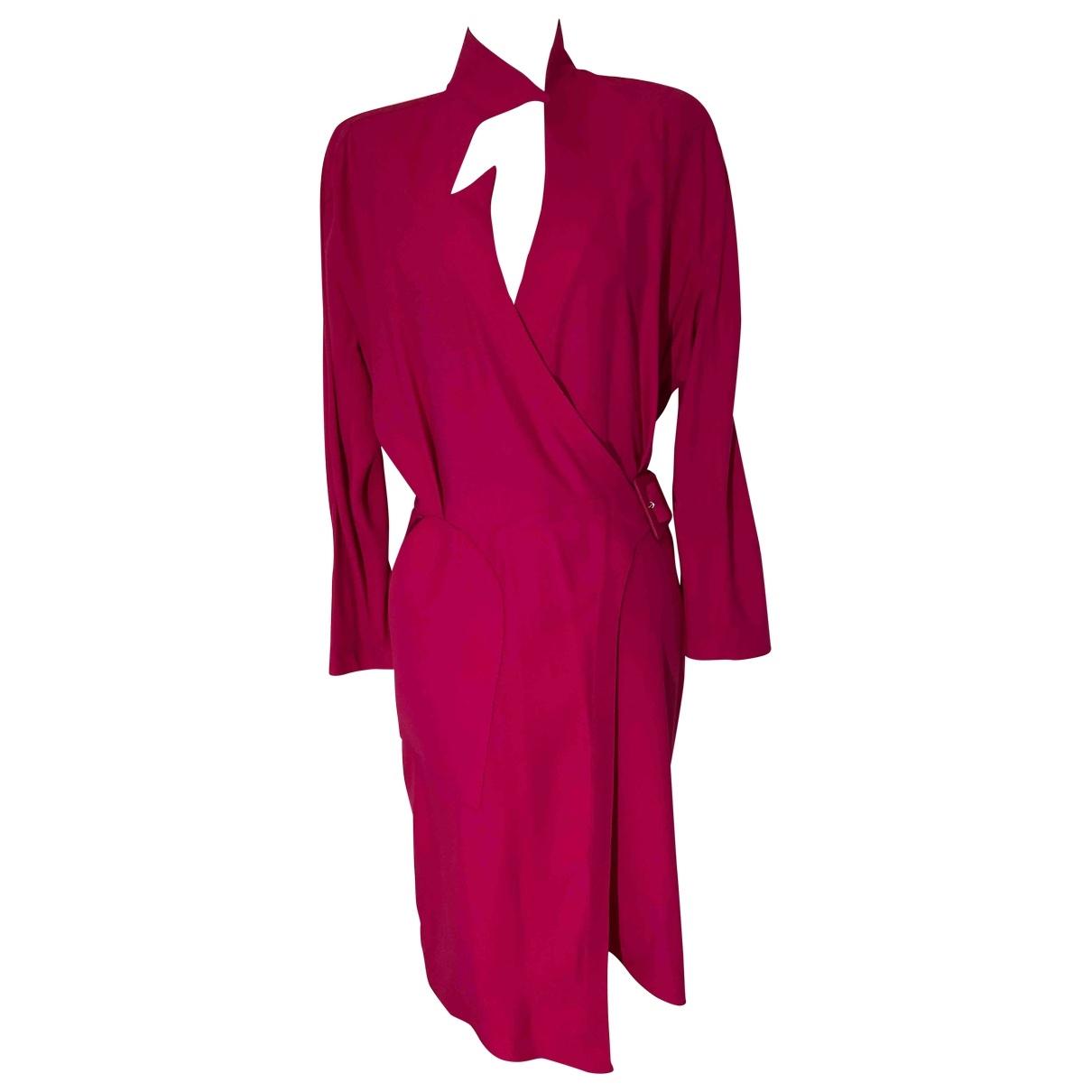 Thierry Mugler \N Kleid in  Rosa Viskose