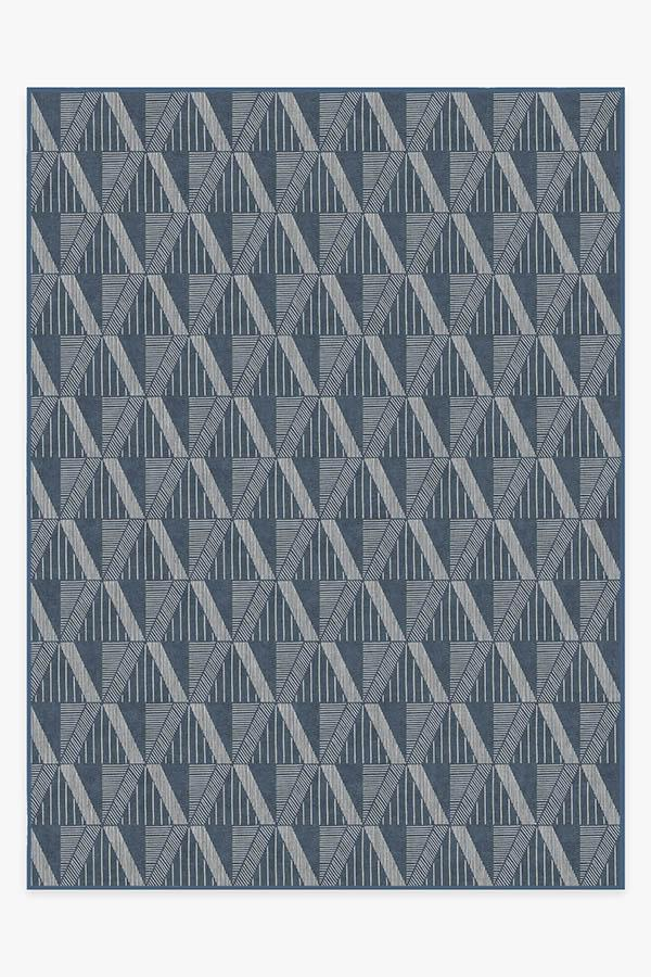 Washable Rug Cover & Pad | Ragazzo Blue Rug | Stain-Resistant | Ruggable | 9'x12'