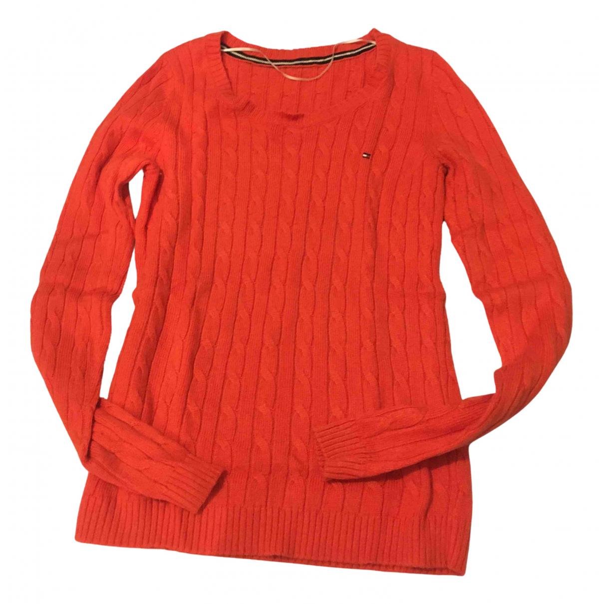 Tommy Hilfiger \N Pullover in  Orange Wolle