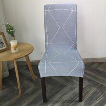 Stretch Stuhlbezug mit geometrischem Muster