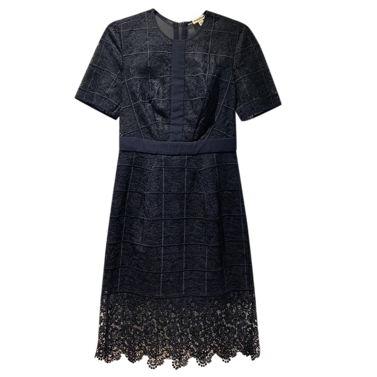 Whistles N Navy Lace dress for Women 10 UK
