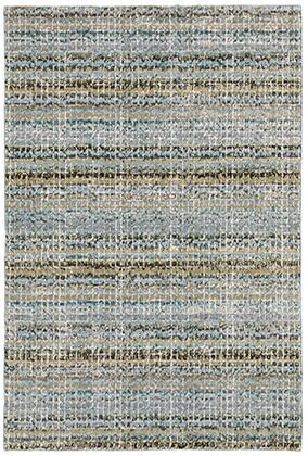 A747B0260370ST 8 6 X 11 7 Rectangle Rug with Abstract Pattern and Nylon/PolyPFiber