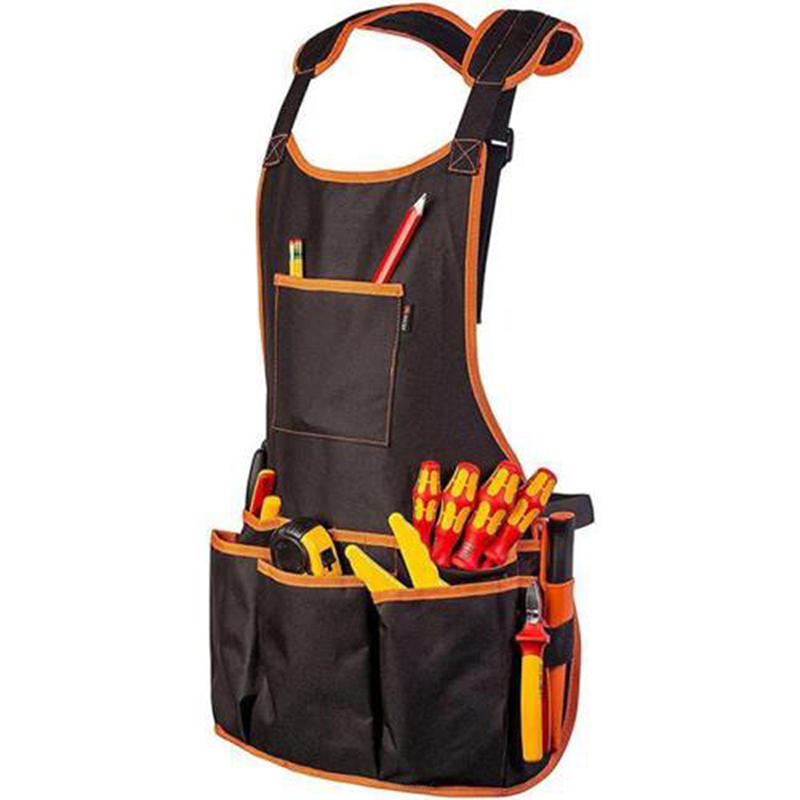 Tool Vest Apron Electrician Carpenter Work Wear Utility Bag Pocket Adjustable Aprons