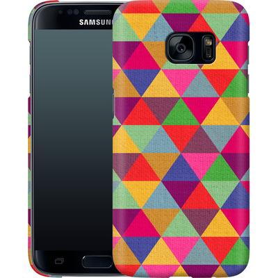 Samsung Galaxy S7 Smartphone Huelle - In Love With Triangles von Bianca Green