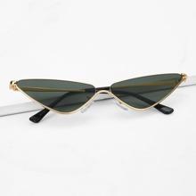 Gafas de ojo de gato de marco metalico