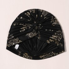 Turban Hut mit Blumen Muster
