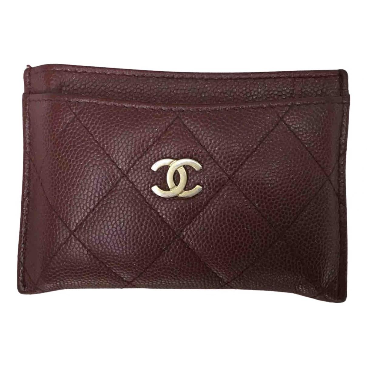 Chanel - Petite maroquinerie Timeless/Classique pour femme en cuir - bordeaux