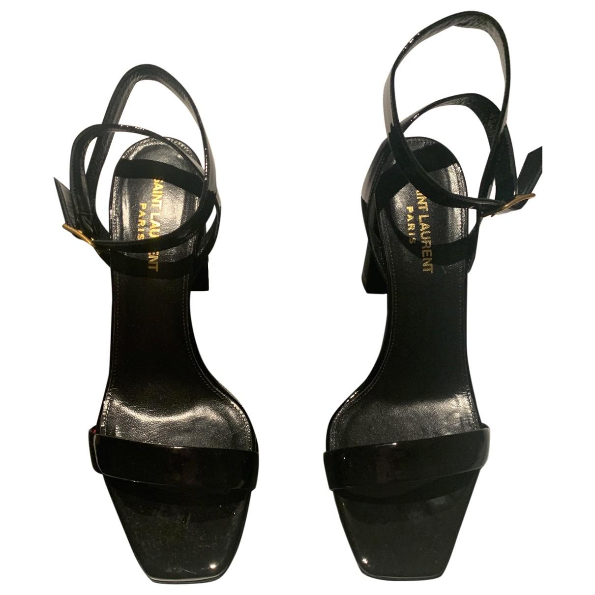 Sandalias romanas de Cuero Saint Laurent
