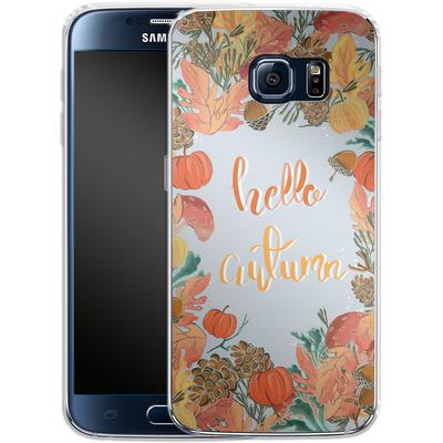 Samsung Galaxy S6 Silikon Handyhuelle - Hello Autumn von Mukta Lata Barua