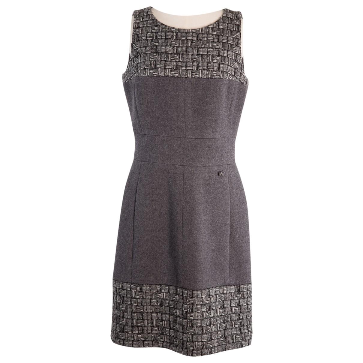 Chanel \N Grey Cashmere dress for Women 36 FR