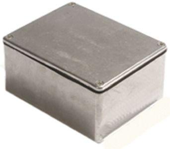 Deltron 480, Natural Die Cast Aluminium Enclosure, IP66, IP67, IP68, Shielded, 88.9 x 34.9 x 30.5mm