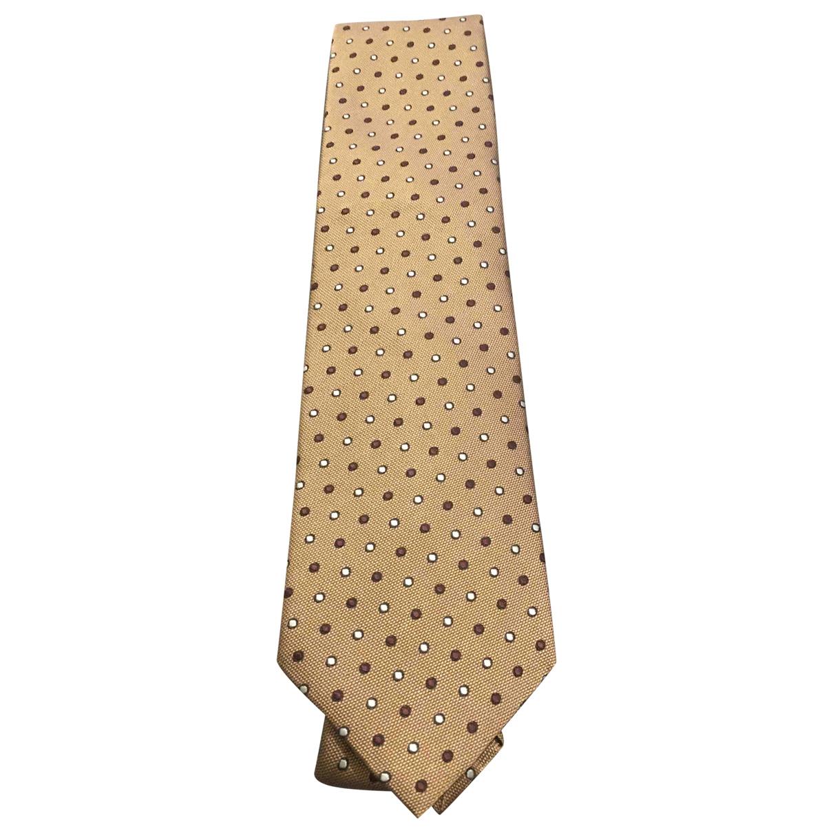 Ermenegildo Zegna \N Krawatten in  Braun Seide