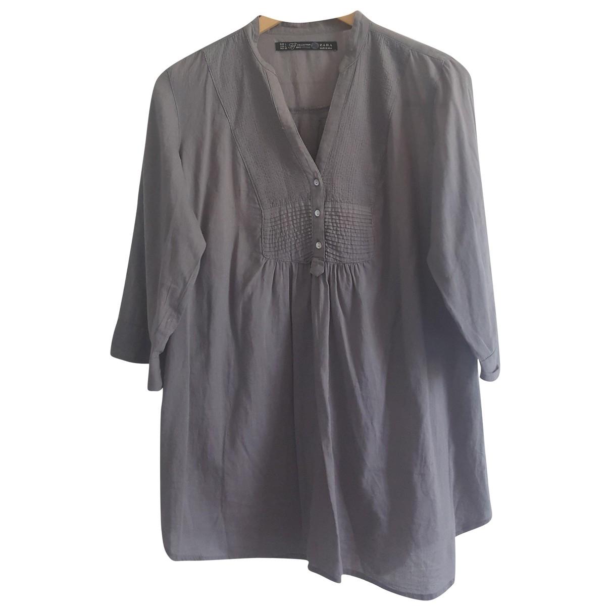 Zara \N Grey Cotton  top for Women L International