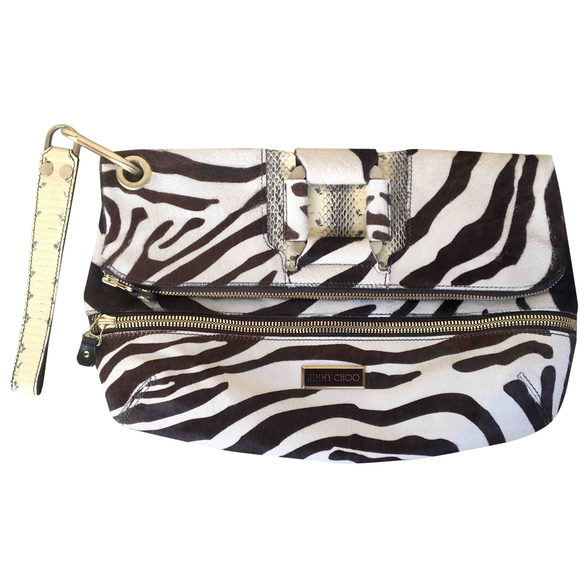 Jimmy Choo \N Multicolour Pony-style calfskin Clutch bag for Women \N