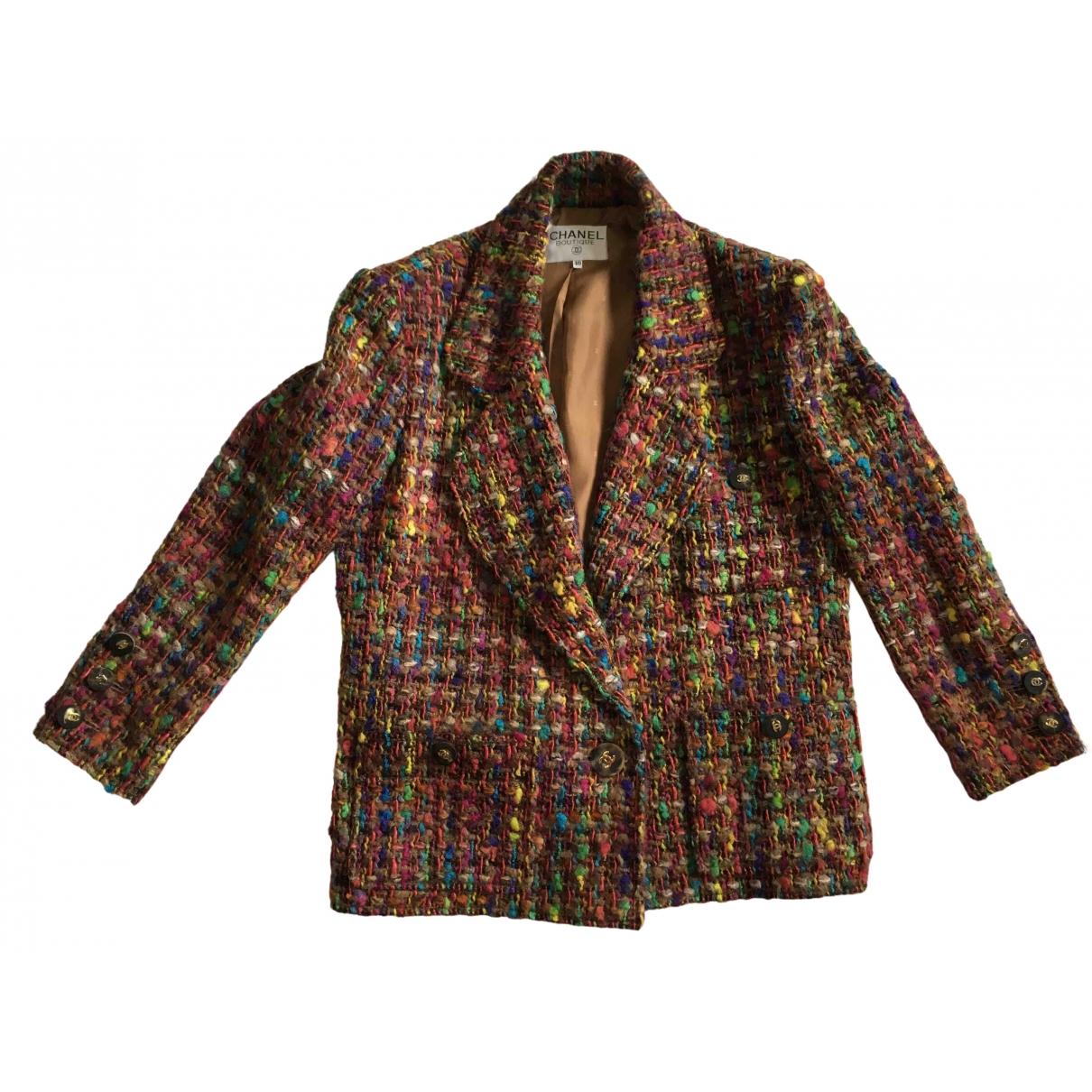 Chanel - Veste   pour femme en laine - multicolore