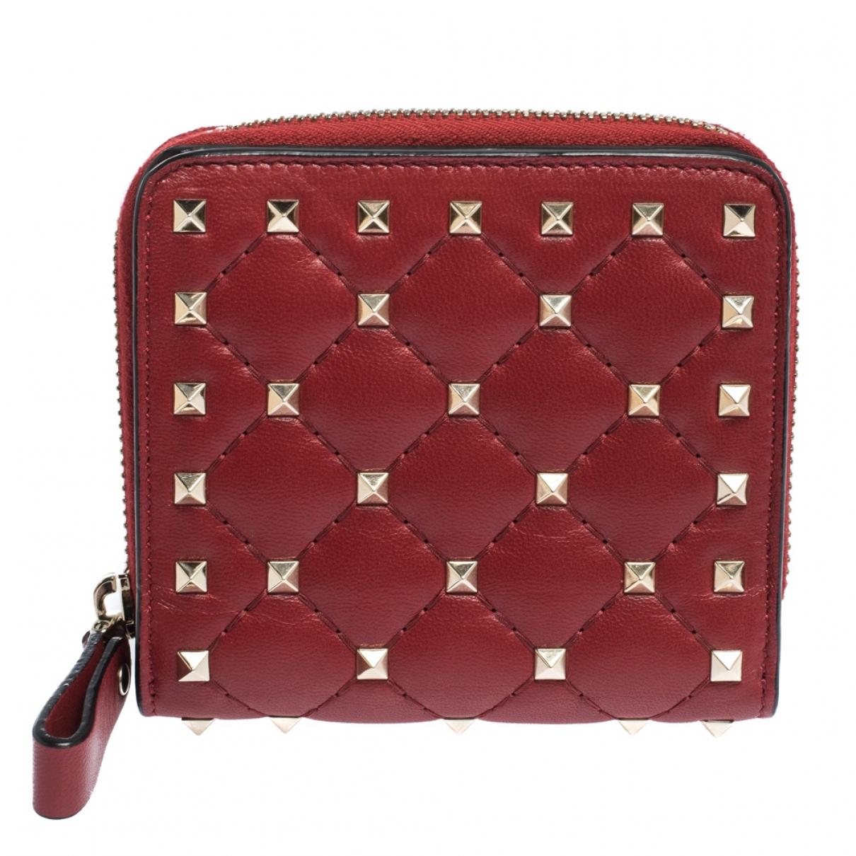 Autre Marque - Portefeuille   pour femme en cuir - rouge