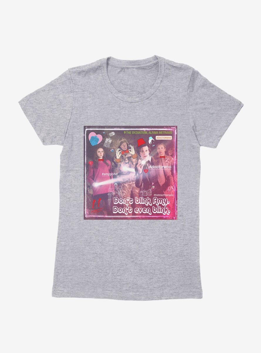 Doctor Who The Eleventh Doctor Don't Blink Womens T-Shirt