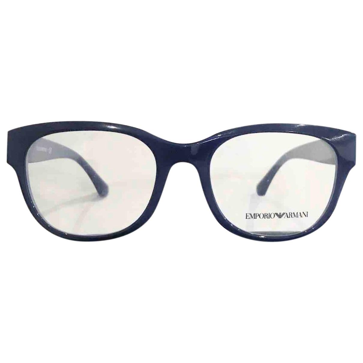 Emporio Armani - Lunettes   pour femme - bleu