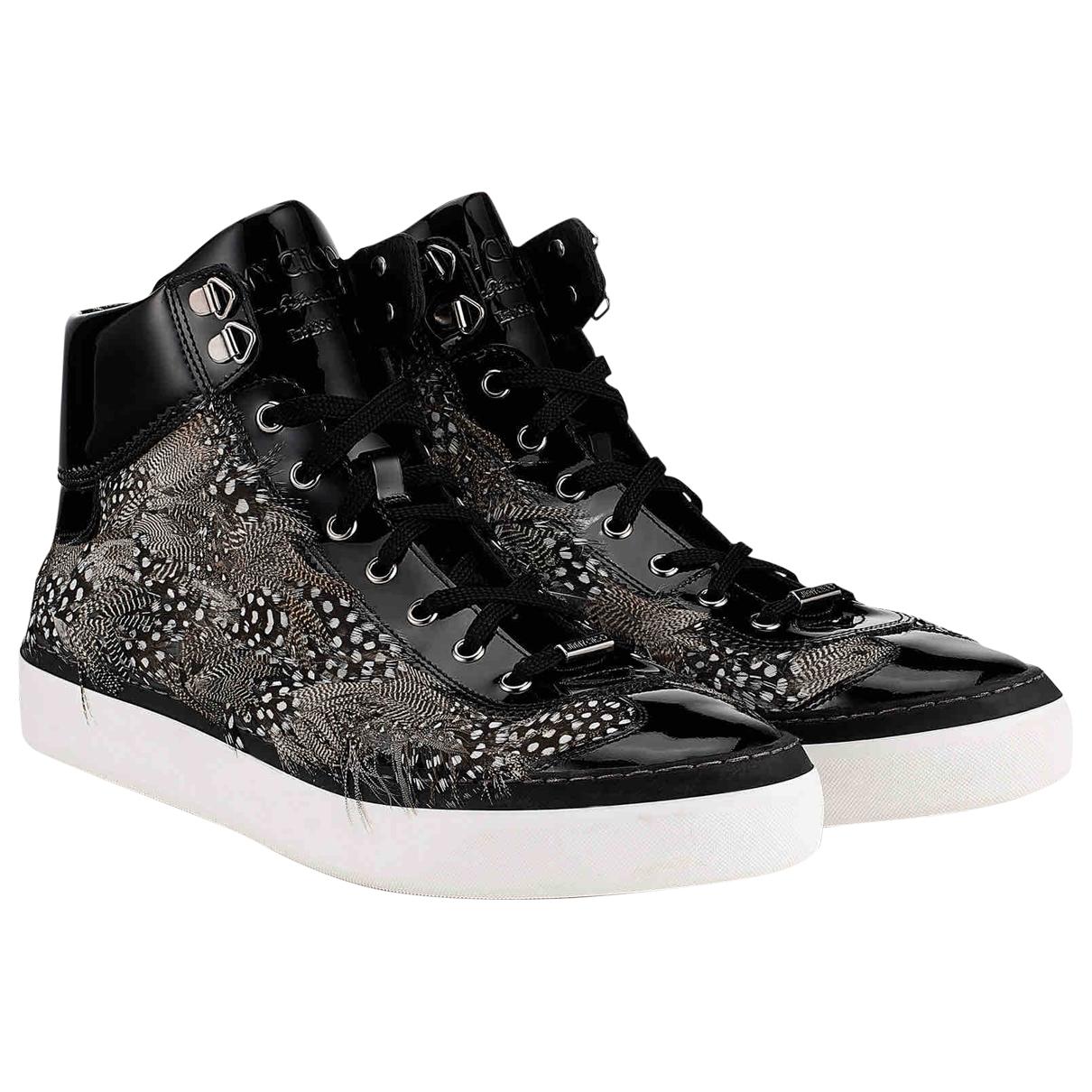 Jimmy Choo \N Sneakers in  Schwarz Leder
