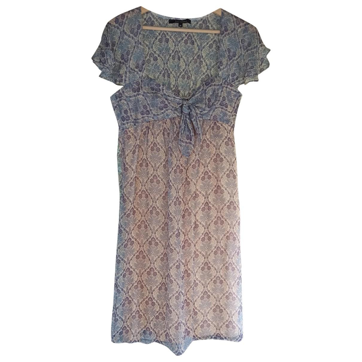 Tara Jarmon \N Purple Silk dress for Women 38 FR
