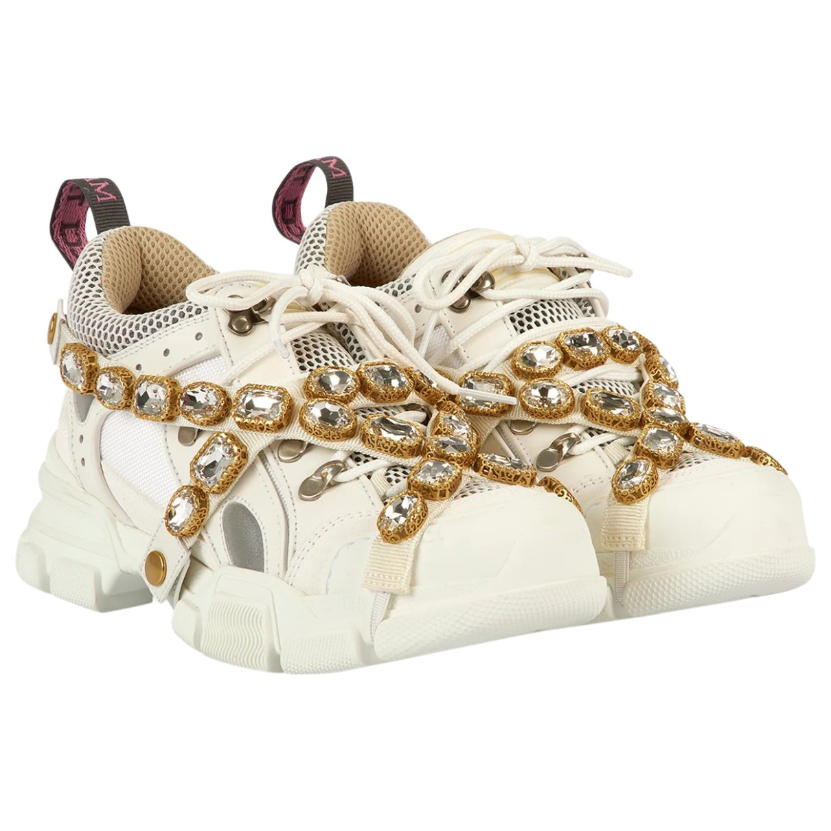Gucci Flashtrek White Leather Trainers for Women 5 UK