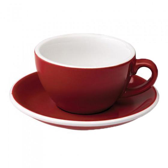 "Cappuccino-Tasse mit Untertasse Loveramics ""Egg Red"", 200 ml"