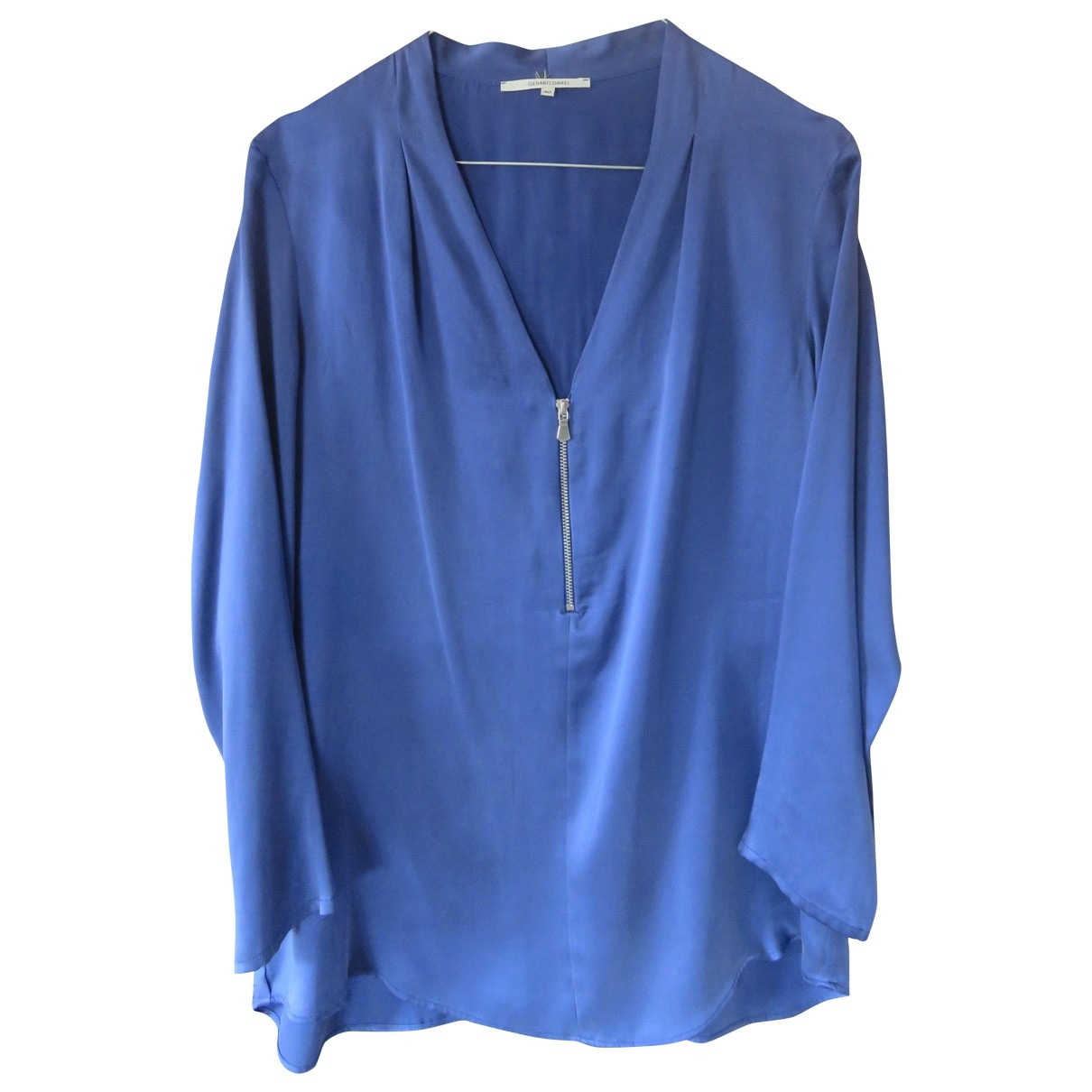 Gerard Darel \N Top in  Blau Seide