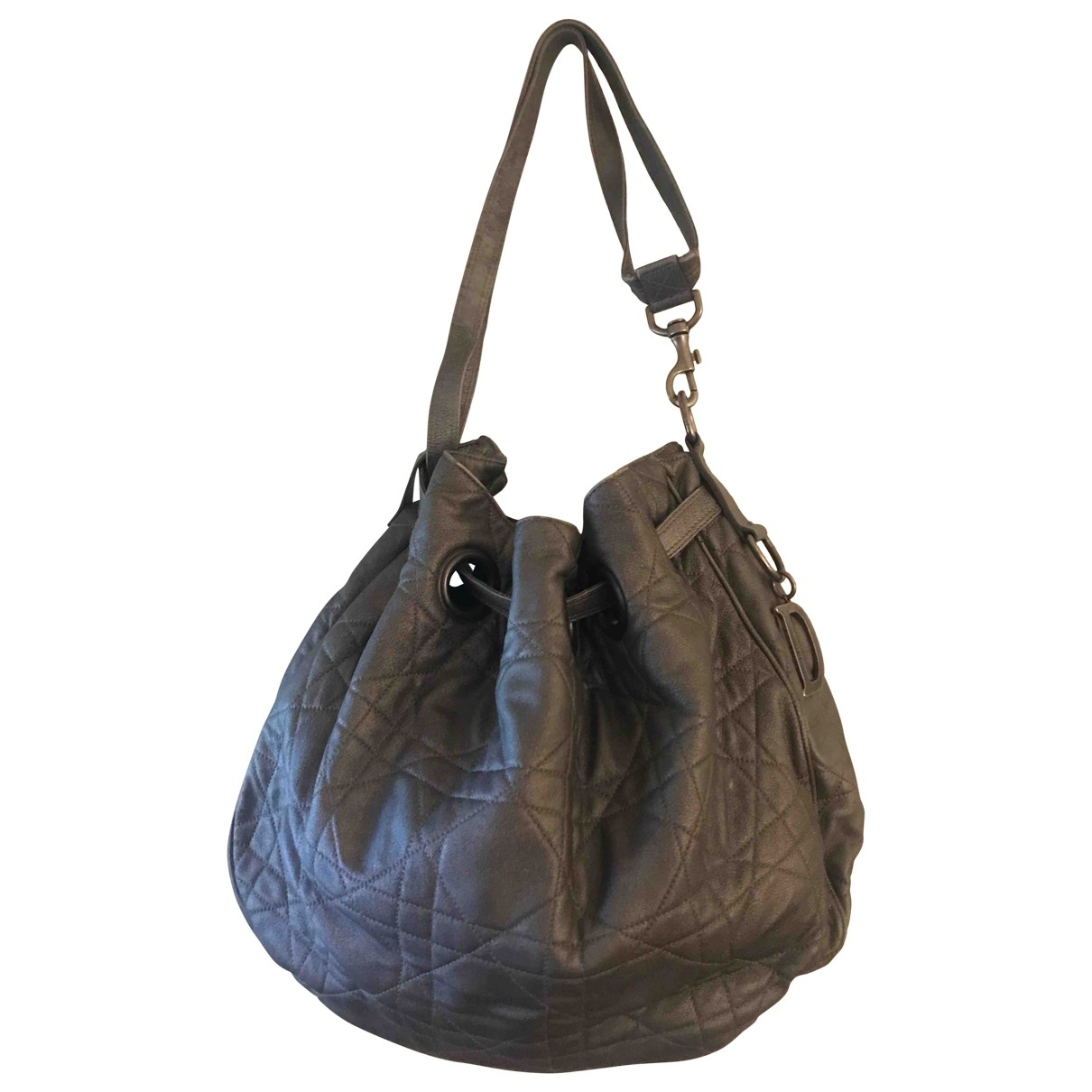 Dior - Sac a main   pour femme en cuir - argente