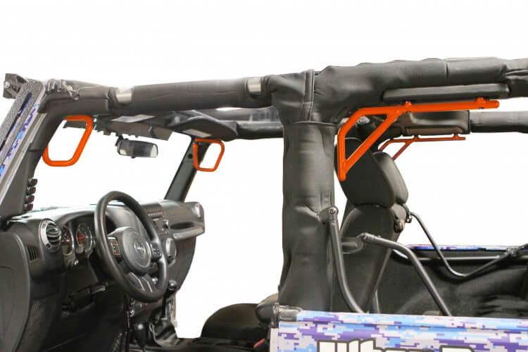 Steinjager J0044759 Grab Handle Kit Wrangler JK 2007-2018 Rigid Design Front and Rear for 2 Door JK Fluorescent Orange