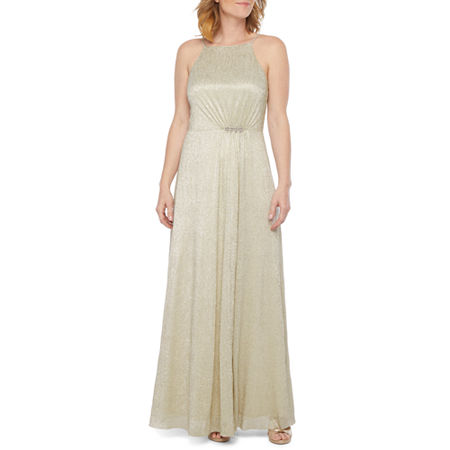 Scarlett Sleeveless Embellished Evening Gown, 12 , Brown