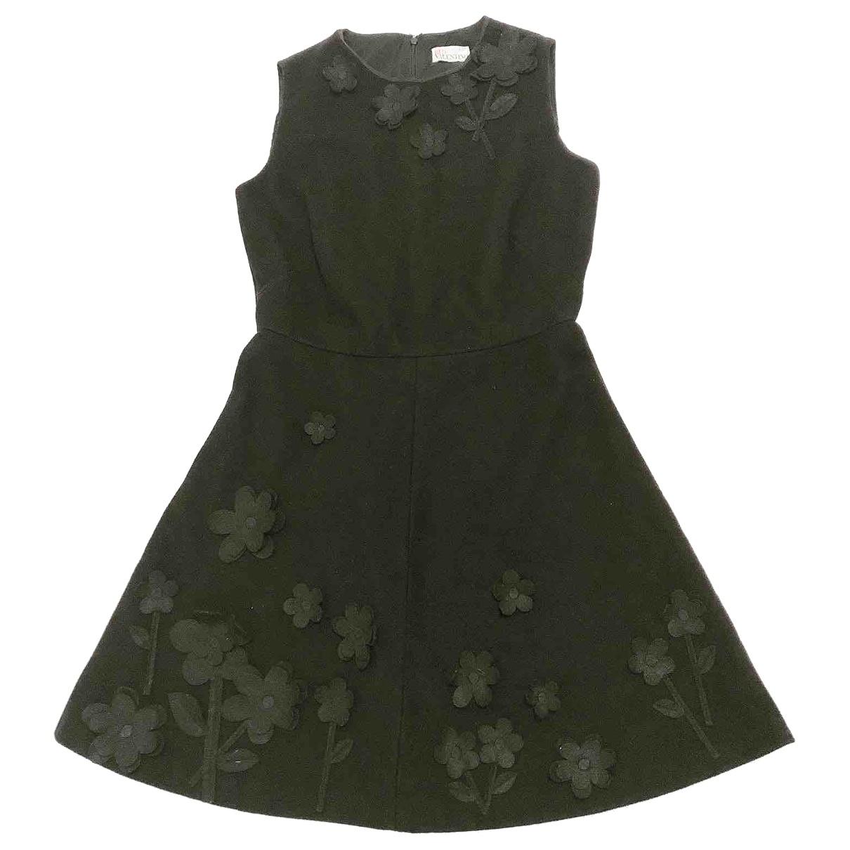 Red Valentino Garavani \N Black Wool dress for Women 42 IT